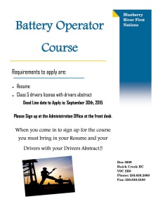 Field Operator Program Course 2015