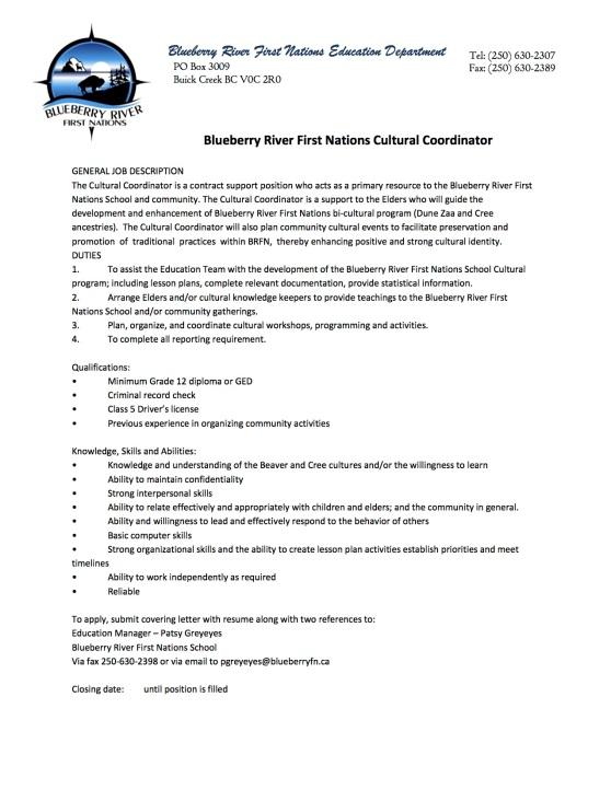 BRFN Cultural Coordinator - 2016.jpg
