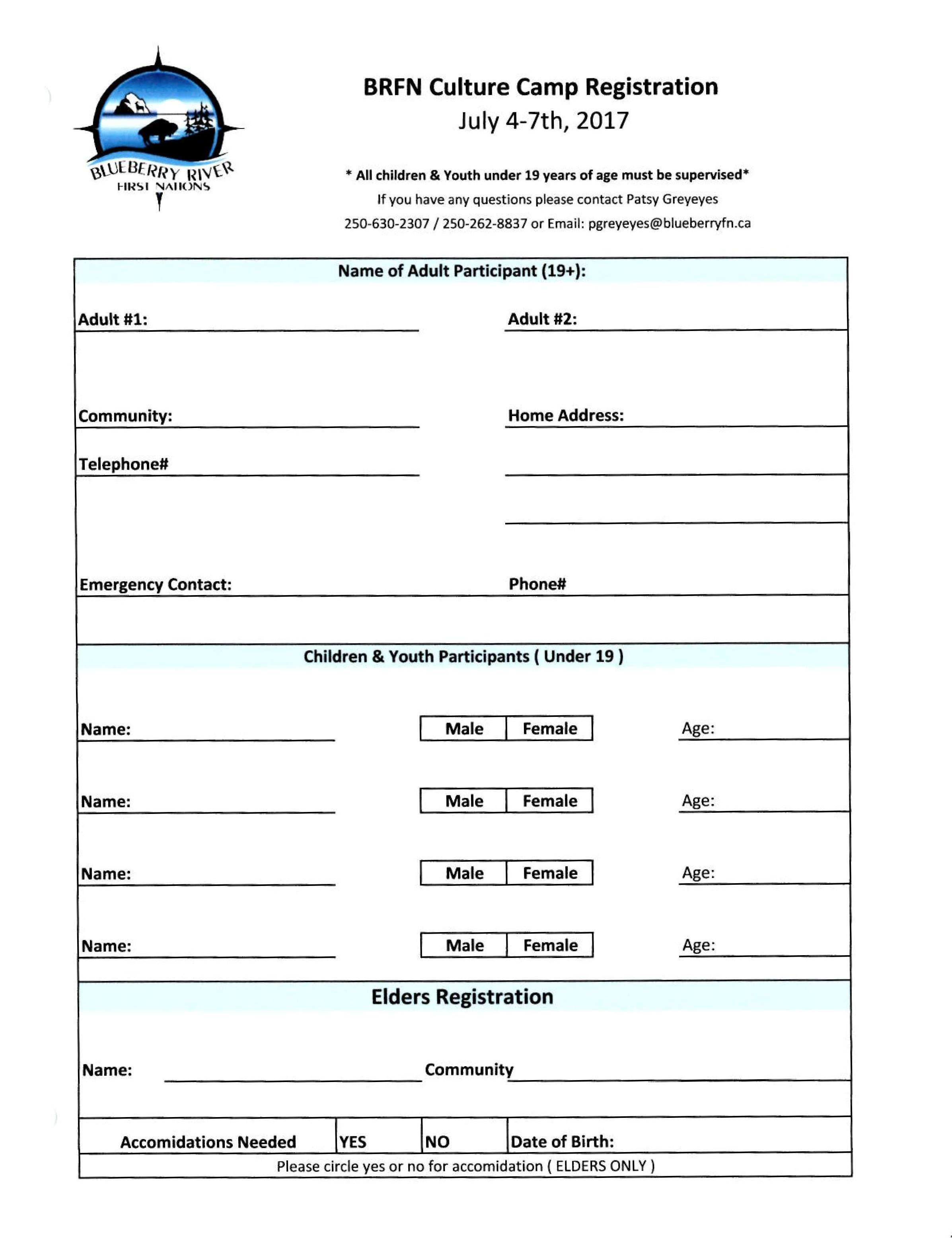 Registration Form. Registration Form Template Registration Form ...