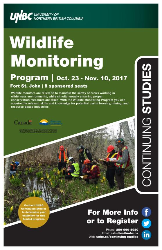 Funded Wildlife Monitoring Information Oct 23-November 10, 2017 Ft St John-page-001