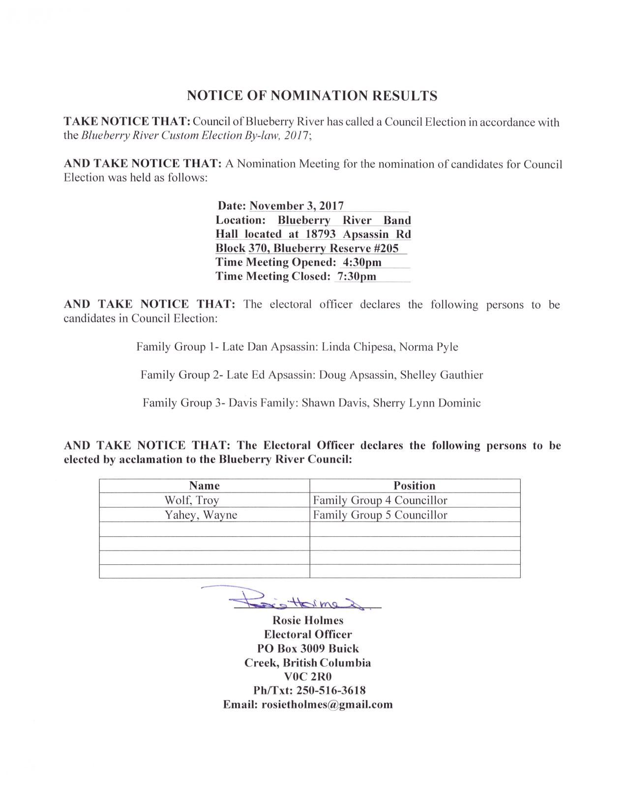 BRFN NOTICE OF NOMINATION RESULTS-page-001
