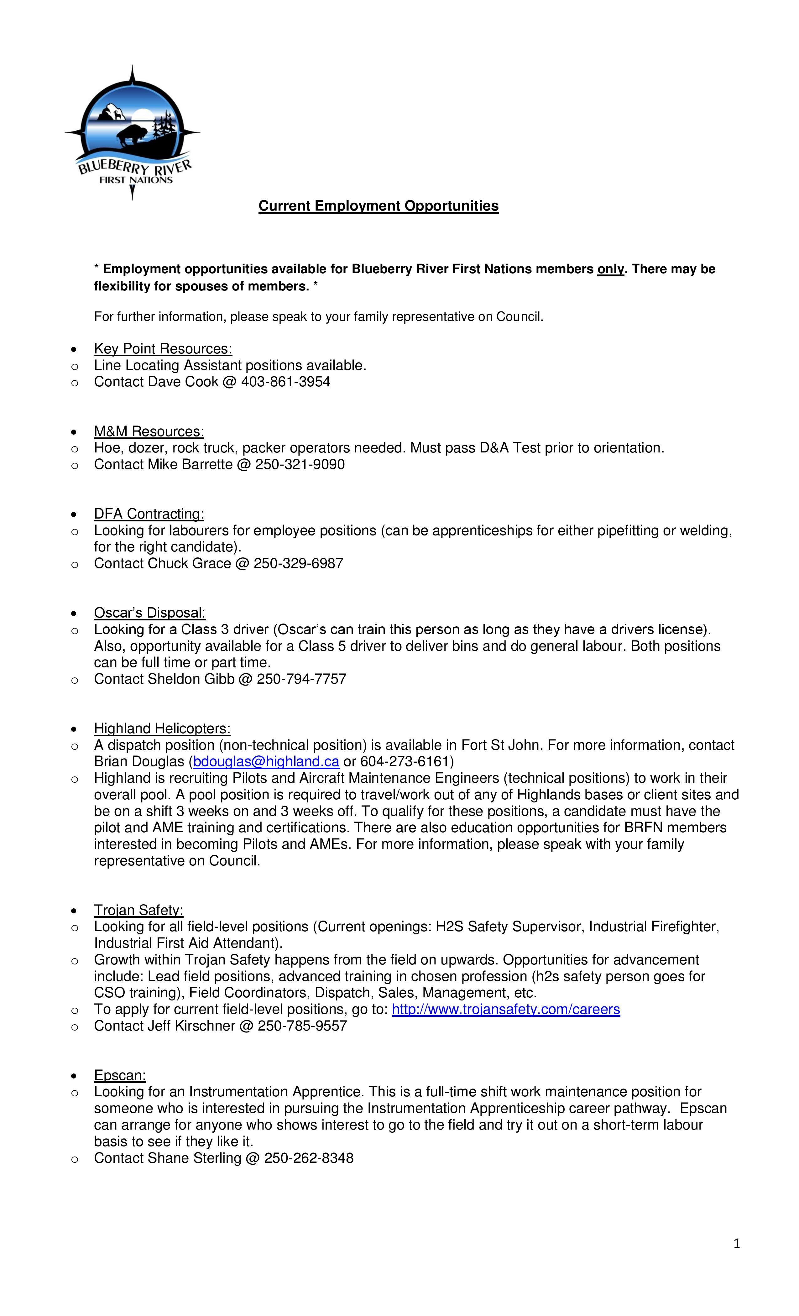 BRFN Service Provider-Current Employment Opportunities-September 2018-page-001