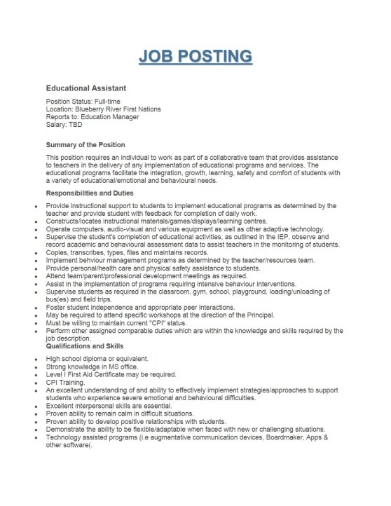 Educational Assistant Posting (002)-1