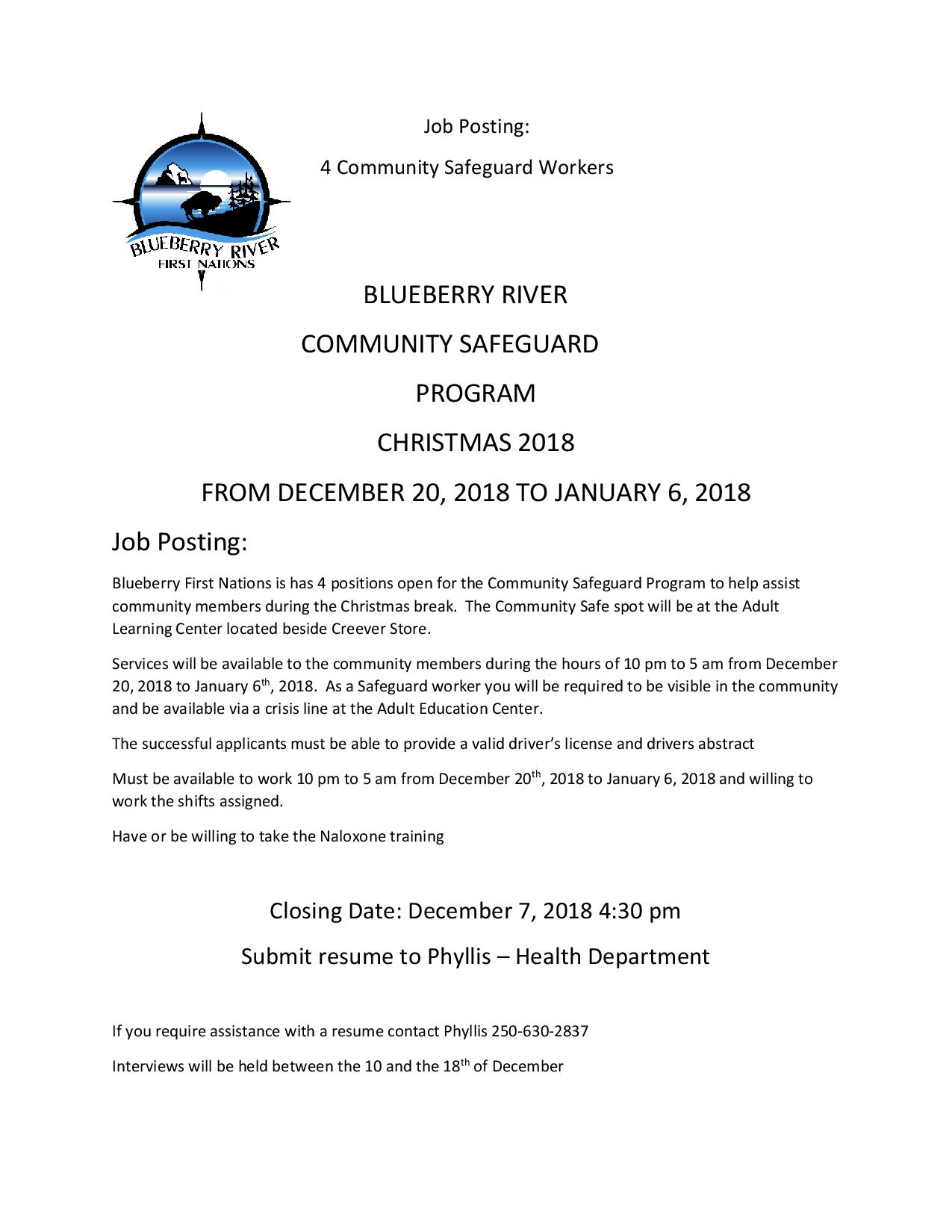 community safe guard objective letter christmas 2018-page-001