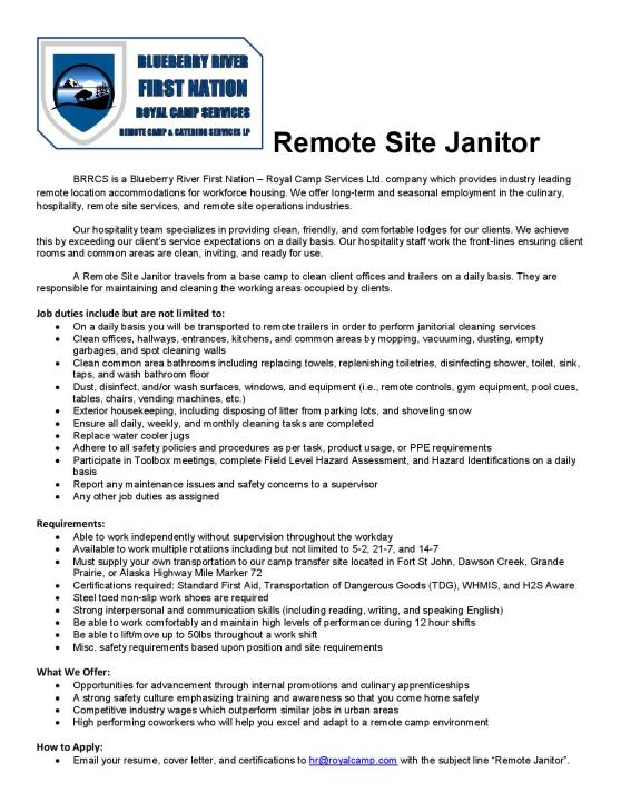 Job Posting - Janitoral (remote) - March 2019-page-001