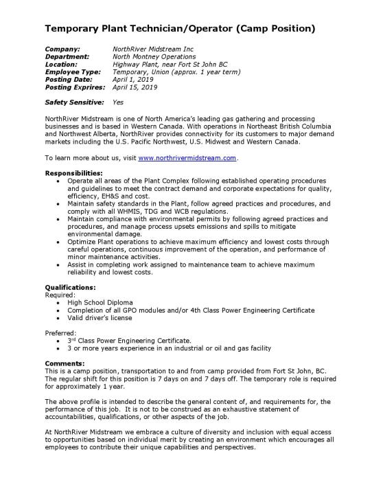 Plant Technician (Temp) - JedHwy EXT 2019-page-001